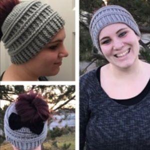 Messy bun hat New